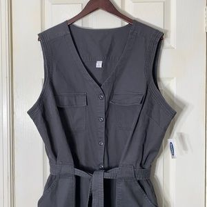 NWT Old Navy Jumpsuit Overalls Gray Size XXL